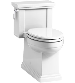 TRESHAM® COMFORT HEIGHT® ONE-PIECE COMPACT ELONGATED 1.28 GPF TOILET WITH AQUAPISTON® FLUSH TECHNOLOGY, White, large