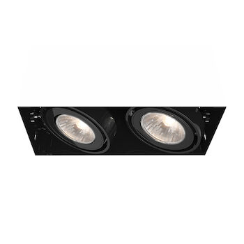 2-LIGHT GU10 TRIMLESS MULTIPLE RECESS, TE212GU10, Black, large