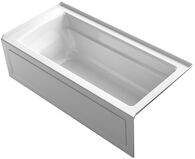 ARCHER® 66 X 32 INCHES THREE-SIDE INTEGRAL FLANGE BATHTUB, RIGHT-HAND DRAIN, White, medium