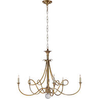 ERIC COHLER DOUBLE TWIST CHANDELIER, Hand-Rubbed Antique Brass, medium