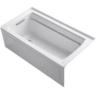 ARCHER® 60 X 32 INCHES ALCOVE BATHTUB WITH INTEGRAL APRON AND INTEGRAL FLANGE, LEFT-HAND DRAIN, White, medium