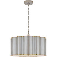 ALEXA HAMPTON MARKOS 4-LIGHT 26-INCH PENDANT LIGHT WITH FROSTED ACRYLIC SHADE, Burnished Silver Leaf and Gild, medium