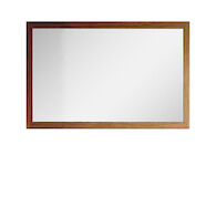 METRIKO WALL MOUNT MIRROR WITH TIGER WOOD FRAME, 15790, Tiger Wood, medium
