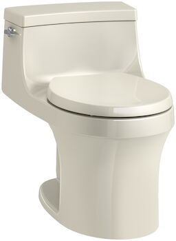 SAN SOUCI® ONE-PIECE ROUND-FRONT 1.28 GPF TOILET WITH AQUAPISTON® FLUSHING TECHNOLOGY, Almond, large