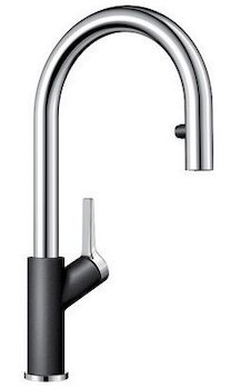 URBENA DUAL SPRAY PULL DOWN FAUCET WITH ACCENTED BASE, Anthracite, large