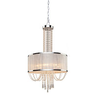 VALENZIA 6-LIGHT CHANDELIER, Chrome, medium