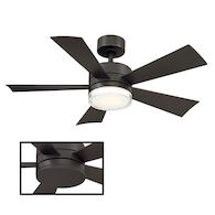 WYND 42-INCH 3000K LED CEILING FAN, Bronze, medium