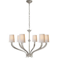 E. F. CHAPMAN RUHLMANN CHANDELIER, Antique Nickel, medium