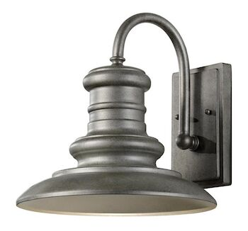 REDDING STATION 1-LIGHT OUTDOOR SCONCE, Tarnished Silver, large