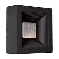 AGENT 8-INCH LED OUTDOOR WALL SCONCE LIGHT, Black, medium