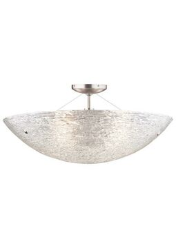 TRACE SEMI-FLUSHMOUNT CEILING, Satin Nickel, large