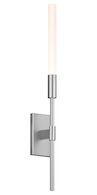 WANDS 1 ARM LED SCONCE, Bright Satin Aluminum, medium