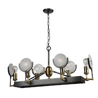 BAKER STREET 6-LIGHT ISLAND LIGHT, Slate and Vintage Brass, medium