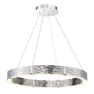ZELDA 29-INCH 3000K LED ROUND CHANDELIER, PD-56729, Polished Nickel, medium