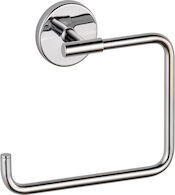 TRINSIC TOWEL RING, Chrome, medium