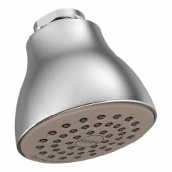 ONE-FUNCTION 2-1/2-INCH DIAMETER SPRAY HEAD ECO-PERFORMANCE SHOWERHEAD, Chrome, large