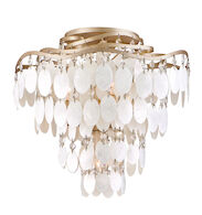 DOLCE 4-LIGHT SEMI-FLUSH LIGHT, Champagne Leaf, medium