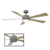 WYND 60-INCH 3000K LED CEILING FAN, Graphite, medium