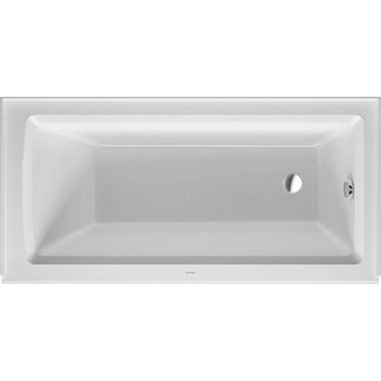 ARCHITEC ACRYLIC BATHTUB WITH INTEGRATED 19.25 INCH PANEL, White, large