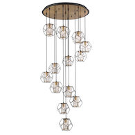 BETTINO 33-INCH ROUND CHANDELIER, 33703, Black, medium