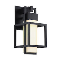 LOGIC LED OUTDOOR WALL LIGHT, Black, medium