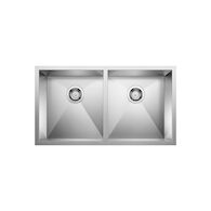 QUATRUS UNDERMOUNT DOUBLE BOWL KITCHEN SINK, Stainless Steel, medium