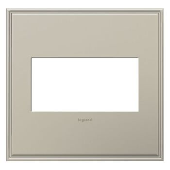 ADORNE 2-GANG CAST METAL WALL PLATE, Antique Nickel, large