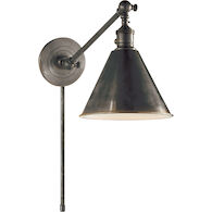 E. F. CHAPMAN BOSTON 18-INCH SINGLE ARM LIBRARY LIGHT, Bronze, medium
