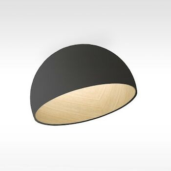 DUO 27 1/2-INCH 2700K LED SEMI FLUSH MOUNT LIGHT, 4880, Graphite, large