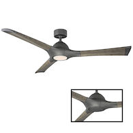 WOODY 60-INCH 3000K LED CEILING FAN, Graphite, medium