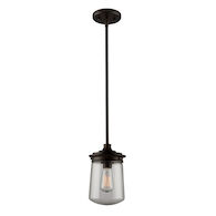 NOSTALGIA 1-LIGHT PENDANT, Oil Rubbed Bronze, medium