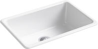 IRON/TONES® 27 X 18-3/4 X 9-5/8 INCHES TOP-/UNDER-MOUNT SINGLE-BOWL KITCHEN SINK, White, medium
