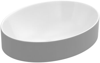 VOX® OVAL VESSEL BATHROOM SINK, White, large