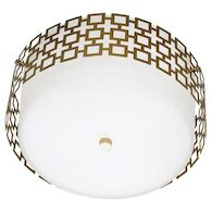 JONATHAN ADLER PARKER FLUSH MOUNT, Antique Brass, medium