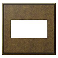 ADORNE 2-GANG CAST METAL WALL PLATE, Aged Brass, medium