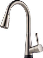 VENUTO SINGLE HANDLE PULL DOWN KITCHEN FAUCET WITH SMARTTOUCH® TECHNOLOGY, Stainless Steel, medium