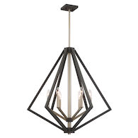 BREEZY POINT 6-LIGHT CHANDELIER, Bronze, medium