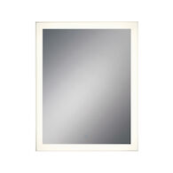 28X36-INCH RECTANGULAR EDGELIT MIRROR WITH 3000K LED LIGHT AND TOUCH SENSOR SWITCH, 31486, Silver, medium
