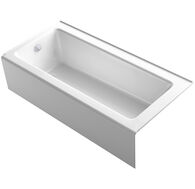 BELLWETHER® 66 X 32 INCHES ALCOVE BATHTUB WITH INTEGRAL APRON, LEFT-HAND DRAIN, White, medium