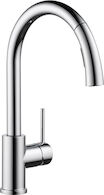 OSLER SINGLE HANDLE PULL DOWN KITCHEN FAUCET, Chrome, medium