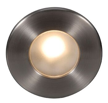 LEDme® FULL ROUND STEP AND WALL LIGHT, Brushed Nickel, large