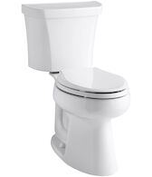 HIGHLINE® COMFORT HEIGHT® TWO-PIECE ELONGATED DUAL-FLUSH TOILET WITH CLASS FIVE® FLUSH TECHNOLOGY AND RIGHT-HAND TRIP LEVER, White, medium