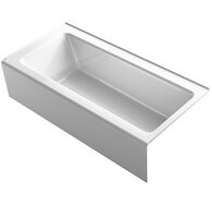 BELLWETHER® 66 X 32 INCHES ALCOVE BATHTUB WITH INTEGRAL APRON, RIGHT-HAND DRAIN, White, medium