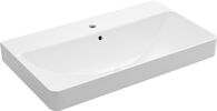 VOX® RECTANGLE TROUGH VESSEL BATHROOM SINK WITH SINGLE FAUCET HOLE, White, medium