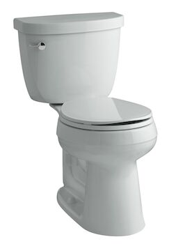 CIMARRON® COMFORT HEIGHT® TWO-PIECE ROUND-FRONT 1.28 GPF TOILET WITH AQUAPISTON® FLUSHING TECHNOLOGY, Ice Grey, large