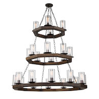 JASPER PARK 24-LIGHT CHANDELIER, Brunito Bronze, medium