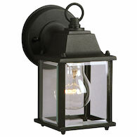 OUTDOOR 8-INCH CAST ALUMINUM LANTERN, Black, medium