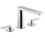 COMPOSED® DECK MOUNT BATH FAUCET WITH LEVER HANDLES, Polished Chrome, small