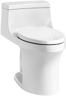SAN SOUCI® COMFORT HEIGHT® ONE-PIECE COMPACT ELONGATED 1.28 GPF TOILET WITH AQUAPISTON® FLUSHING TECHNOLOGY AND RIGHT-HAND TRIP LEVER, White, medium