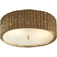 ALEXA HAMPTON FRANK 3-LIGHT 15-INCH FLUSH MOUNT LIGHT, Natural Brass, medium